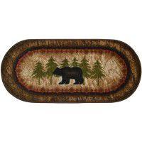 Birch and Bear Oval Rug