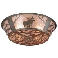 North Woods Moose Ceiling Light
