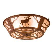 Elk On The Loose Flush Ceiling Light