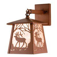 Elk At Dawn Hanging Wall Sconce