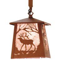 Elk At Dawn Mini Pendant Light