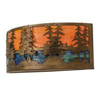 """30"""" Tall Pines Wall Sconce"""