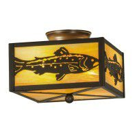 Rainbow Trout Flush Mount Ceiling Light