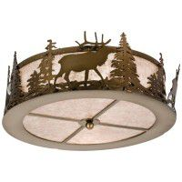 Elk At Dusk Ceiling Light