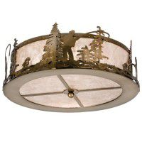 Fly Fishing Creek Ceiling Light