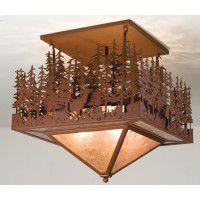 Pine Lake Wildlife Ceiling Light