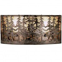 Double Tall Pines Wall Sconce
