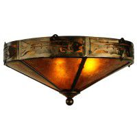 Rainbow Trout Flush Ceiling Light