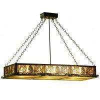 Pine Cone Oblong Pendant Light
