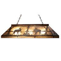 Double Moose Game Table Light