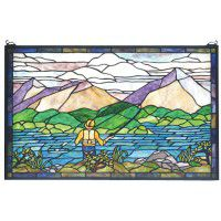 Fly Fishing Stained Glass Window