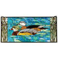 Wood Duck Stained Glass Window