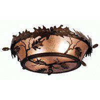 Oak Leaf Ceiling Light