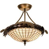 Greenbriar Oak Semi-Flushmount Ceiling Light