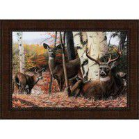 Autumn's Majesty Framed Deer Print