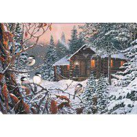 Enchanted Woods - Log Cabin Wrapped Canvas