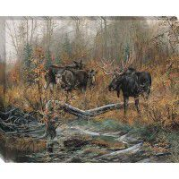 Fall Ritual - Moose Wrapped Canvas