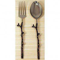 Antique Copper Twig Serving Set