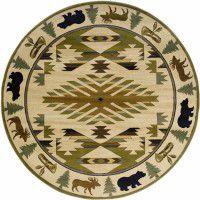 Native Wildlife Round Rug