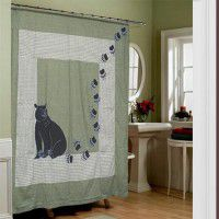 Bear Country Applique Shower Curtain