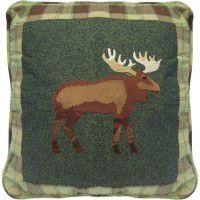 Evergreen Moose Pillow