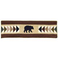 Woodcut Bear Valance/Runner