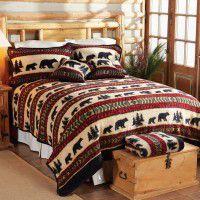 Bear Adventure Fleece Bed Sets
