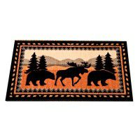 Cedar Run Bear and Moose Kitchen and Bath Rug