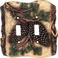 Cabin Pinecone Switch Plates