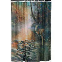 Beside Still Water - Deer Shower Curtain