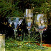 Icy Pine Cone Glassware