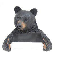 Black Bear Toilet Tissue Holder