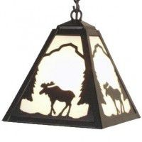 Timber Ridge Moose Pendant Light