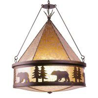 Bear Teepee Chandelier