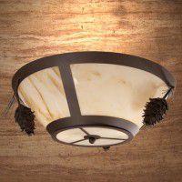 Ponderosa Pine Cone Round Ceiling Light