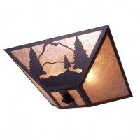 Timber Ridge Pine Tree Ceiling Light