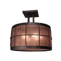Ferron Forge 4 Post Semi Flush Ceiling Light