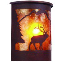 Timber Ridge Elk Outdoor Sconce