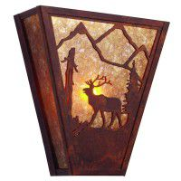 Mountain Elk Sconce