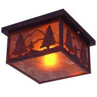 Timber Ridge Square Ceiling Light