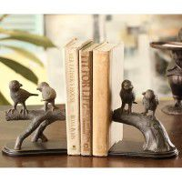 Bird Chat Bookends