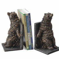 Reclining Bear Bookends