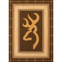 Brown Buckmark Area Rugs