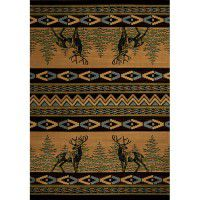 Mule Deer Reflection Area Rugs