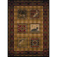 Lodge Stamp Area Rugs