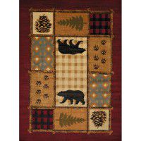 Lodge Mosaic Area Rugs