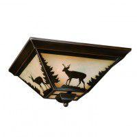 Bryce Deer Flush Ceiling Light
