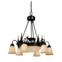 Bryce Whitetail Deer Inverted Pendant Light