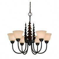 Bryce Whitetail Deer 6 Light Chandelier