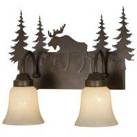 Yellowstone Moose Vanity Lights - 3 Sizes Available